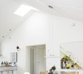 earmark, akuart, akustikloft, støj, kønnealrum, køkken, akustik, samtale, akustikregulering